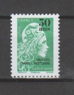 """FRANCE / 2020 / Y&T N° 5439 ** : Marianne D'YZ Surchargée """"50 Ans Gravés Dans L'histoire"""" X 1 - Nuovi"""