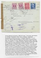 GANDON 15FR BLEU SEUL LETTRE  NOGENT 1952 POUR  AUTRICHE TAXE 1SX2+40G KORNEUBURG - 1945-54 Marianne (Gandon)