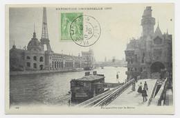 SAGE 5C AU RECTO CARTE EXPO UNIVERSELLE PERSPECTIVE PARIS EXPOSITION 17 OCT 00 RAPP - 1877-1920: Semi-moderne Periode