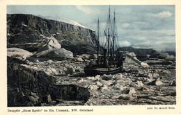 """Grönland, Dampfer """"Hans Egede"""" Im Eis, Umanak, NW Grönland, Phot. Dr. Arnold Heim - Greenland"""