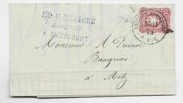 GERMANY 10 PFENNING LETTRE COVER BRIEF DEUTSCH AVRICOURT 30.11.1875 POUR METZ MOSELLE - Alsace-Lorraine