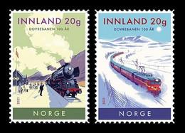 Norway 2021 Mih. 2044/45 Dovre Railway Line. Locomotives. Trains MNH ** - Unused Stamps