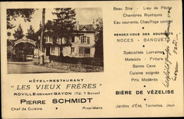 CPA Roville Meurthe Et Moselle, Hotel Restaurant Les Vieux Freres - Other Municipalities