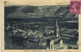 Dauphiné VINAY (Isère) L'Eglise Et La Place RV - Other Municipalities