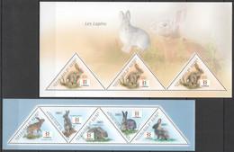 BC246 2011 GUINEE GUINEA FAUNA WILD ANIMALS RABBITS LES LAPINS 2KB MNH - Rabbits