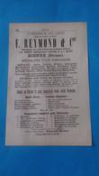 Vieux Papiers Horlogerie Reymond Et Cie Bienne 1914 Suisse - Advertising