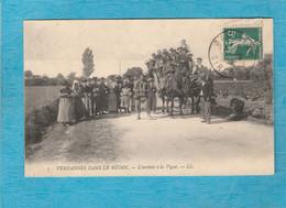 Tampon De Pauillac ( Gironde ) Pour Rochefort, 1908. - Vendanges Dans Le Médoc. - L'Arrivée à La Vigne. - Pauillac