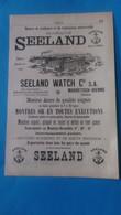 Vieux Papiers Publicité Seeland Watch Madretsch-bienne 1914 Suisse - Advertising