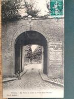 80 ,peronne  ,la Porte Neuve En Avant Du Pont  En 1908 - Peronne