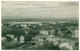 71 - B14301CPA - CHALON SUR SAONE - Ensemble Des Gares - Très Bon état - SAONE-ET-LOIRE - Chalon Sur Saone