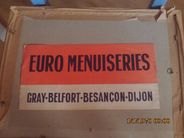 Chapeau Papier  Euro Menuiserie Gray Besancon Belfort Dijon - Advertising