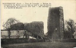 MONTESQUIOU  Tour De Lamothe Ruines Du Chateau De La Mothe RV FM  Depot Guichet - Otros Municipios