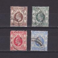HONG KONG 1907, SG# 91-95, Part Set, King Edward VII, Used - Oblitérés