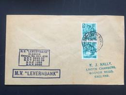 TANGANYIKA 1962 Paquebot Cover - M.V. Levernbank Sent To England - Dar Es Salaam - Kenya, Uganda & Tanganyika