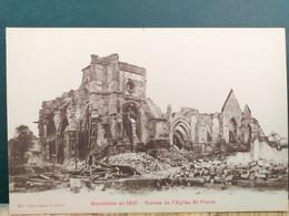80 , Montdidier , L'église Saint Pierre , Vue Générale En 1921 - Montdidier