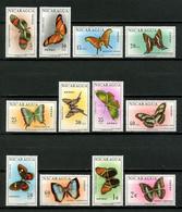 NICARAGUA 1967 PA N° 575/586 ** Neufs MNH Superbes C 20 € Faune Papillons Butterflies Animaux Insectes - Nicaragua