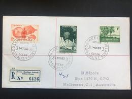 COCOS Keeling Islands 1963 Registered Cover To Melbourne - Kokosinseln (Keeling Islands)
