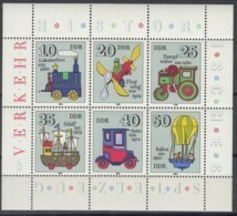 DDR  2566-2571, Kleinbogen, Postfrisch **, Historisches Spielzeug 1980 - Bloques