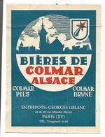 Ancienne Etiquette Bières De Colmar. - Zonder Classificatie
