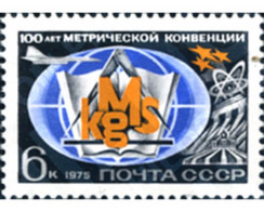 Ref. 270598 * MNH * - SOVIET UNION. 1975. 100th ANNIVERSARY OF THE INTERNATIONAL METRO CONVENTION . 100º ANIVERSARIO DE - Treni