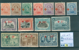 150-163  X  Côte 1550.00€ - 1918 Red Cross
