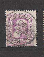 COB 80 Sans Bandelette Centraal Gestempeld Oblitération Centrale BRUXELLES Rue Ducale Départ - 1905 Barbas Largas