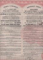 TURQUIE. REPUBLIQUE TURQUE. DETTE TURQUE 7,5 % 1933. Texte En 4 Langues.    Lot De 2 - Other