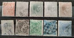 ESPAGNE - CUBA - 1873/1879 - Lot 10 Timbres * / O (voir Détail Et Scan) - Cuba (1874-1898)