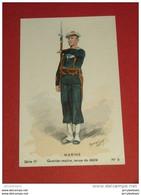 MILITARIA  -  Marine - Quartier-Maître , Tenue De Défilé       -  Série IV  N° 6 - Illustrateur Toussaint - Uniformes