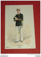 MILITARIA -  Marine - Maître    -  Série IV  N° 7 - Illustrateur Toussaint - Uniformes