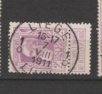 COB 80 Centraal Gestempeld Oblitération Centrale LIEGE 1 - 1905 Breiter Bart
