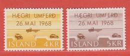 1968 ** Islande  (sans Charn., MNH, Postfrish)  Yv  374/5Mi  419/20FA  456/7 - Nuevos