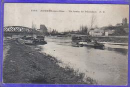 Carte Postale 95. Auvers-sur-Oise  Train De Péniches En Remorquage   Beau Plan - Auvers Sur Oise