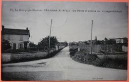 CPA PERONNE - 71 - LA POSTE & ENTREE VILLAGE COTE SUD - 1929 - SCAN RECTO/VERSO - Altri Comuni