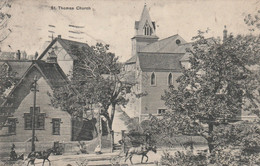 Canada Postcard Newfoundland St John's St Thomas Church 1917 - St. John's
