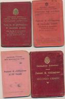 1929/1945 PATENTI DI GUIDA PATENTE LOTTO DI 8 COMPLETE DI FOTO E MARCHE DA BOLLO - Non Classificati