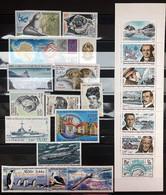 TAAF 2000, Poste N° 264/286 ; Dont Un Bloc N° 4, Et Un Carnet Luxe, Timbres Et Bloc Magnifiques, 2 Vues - Komplette Jahrgänge