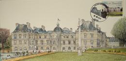 75 - Paris Carte 1er Jour Jardin Du Luxembourg 2014 - Bolli Commemorativi