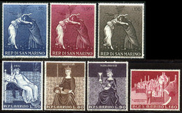 Saint-Marin 1969 Yvert 725 / 731 ** TB Coin De Feuille - Unused Stamps