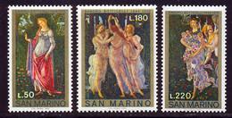 Saint-Marin 1972 Yvert 801 / 803 ** TB Bord De Feuille - Unused Stamps
