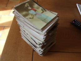COLLECTION EN LOT DE 450 CARTES POSTALES FANTAISIE ANCIENNES HOMMES FEMMES SOUVENIR BONNE ANNEE FETES SERIES 14 PHOTOS - 100 - 499 Postcards