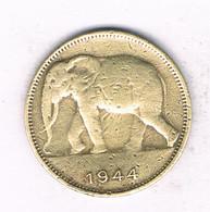 1 FRANC  1944 BELGISCH CONGO  /3568/ - 1934-1945: Leopold III