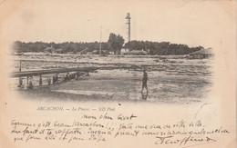 33 ARCACHON Le Phare Carte Précurseur Cachet Ambulant Convoyeur Arcachon à Lamothe 1900 - Arcachon