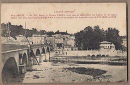 CPA 07 - UCEL - Pont D'Ucel - TB PLAN EDIFICE Sur Cours D'eau + Jolie Vue Générale Village Détails Maisons Oblitération - Other Municipalities