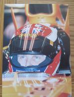 Eddie Irvine F1 Career Information Card 150 X 105 Mm - Grand Prix / F1