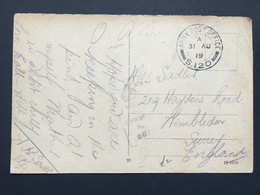 GB George V 1919 WW1 Postcard Army Post Office S120 - Duren Germany Sent To Wimbledon - Covers & Documents
