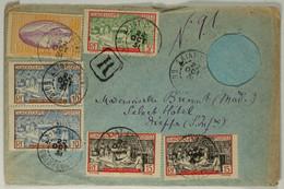 Guadeloupe Lettre Recommandée à 1.25c Sur Enveloppe Ajourée Oblitéré St Claude (type A3) Pour Dieppe 1931 - Storia Postale