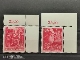 Deutsche Reich Mi-Nr. 909/910  MNH Postfrisch Eckrand - Nuevos