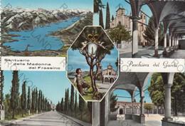 CARTOLINA  PESCHIERA,LAGO DI GARDA,VERONA,VENETO,SANTUARIO DELLA MADONNA DEL FRASSINO,BARCHE,BELLA ITALIA,NON VIAGGIATA - Verona