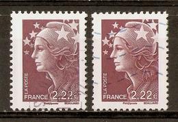 2009 Marianne De Beaujard 2,22 Brun-prune YT4346 (2 Types) - 2008-13 Marianne (Beaujard)